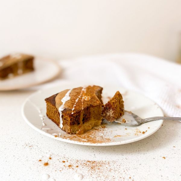 Ginger Pudding with Ginger Caramel Cream
